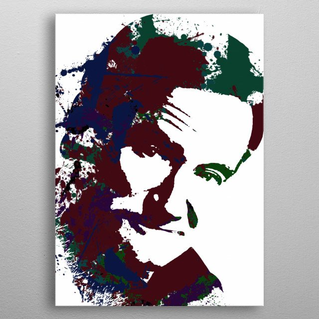 Robin Williams portrait metal poster