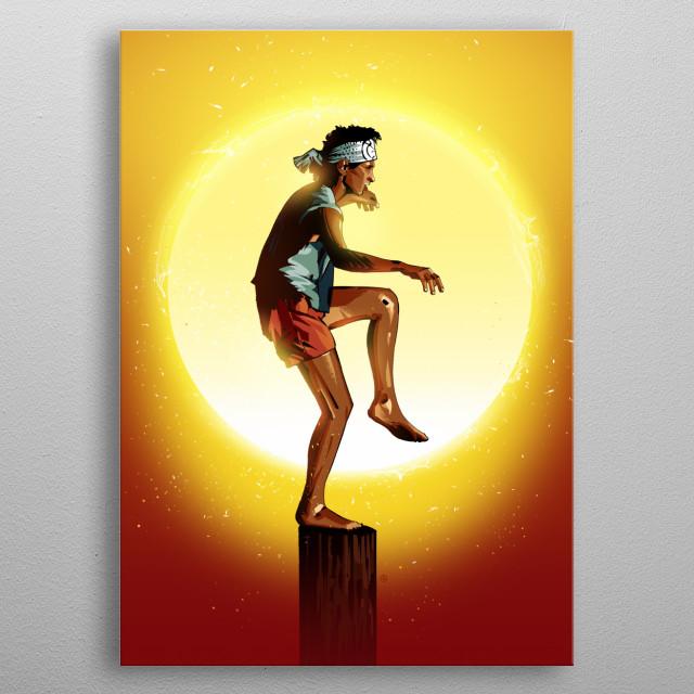 Karate Kid metal poster