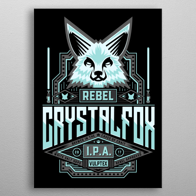 Ice Fox IPA a collab with Famousafterdeath metal poster