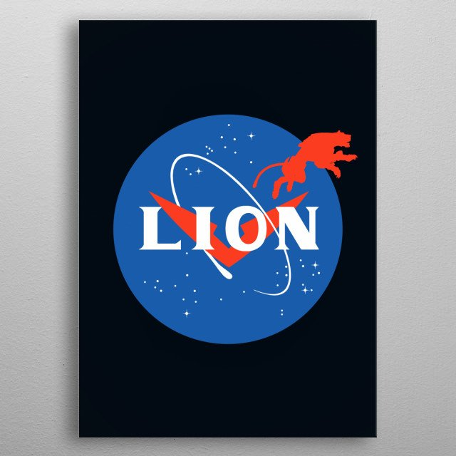 Nasa logo parody featuring Voltron, the cartoon series. metal poster