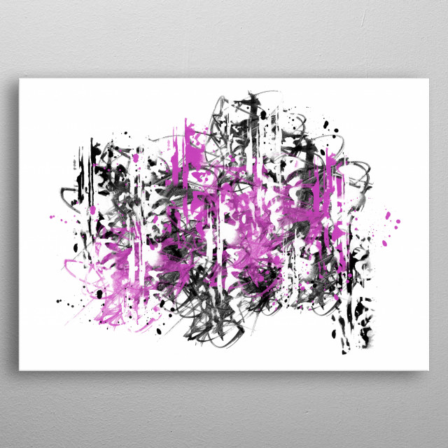 Minimalistic and trendy abstract artwork. metal poster