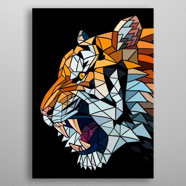 Tiger glass metal poster