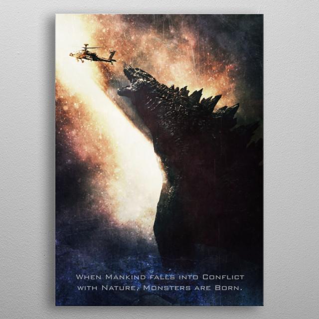 Godzilla / Tagline metal poster
