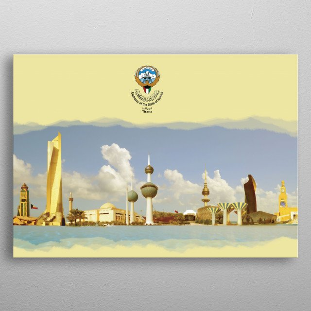 High-quality metal print from amazing Love My Country collection will bring unique style to your space and will show off your personality. metal poster