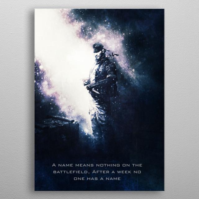 Snake / Metal Gear Solid / Tagline metal poster