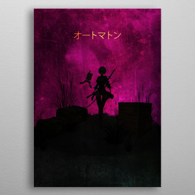 Nier Automata / Minimalistic metal poster