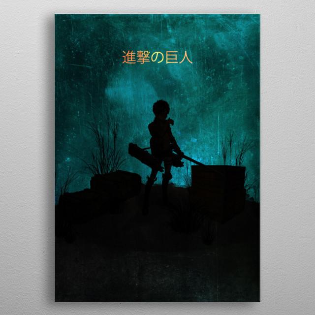 Eren / Attack on Titan / Minimalistic metal poster