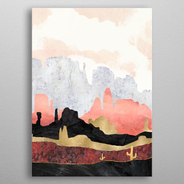Distant Desert metal poster