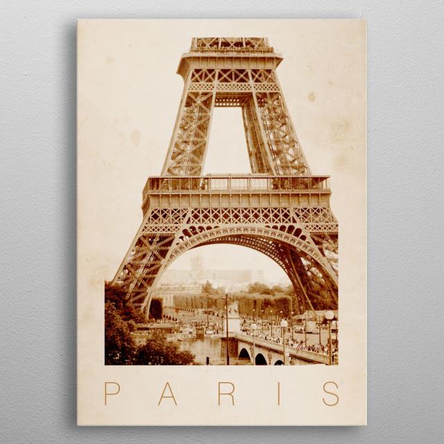 Paris IV -  Eiffel Tower metal poster