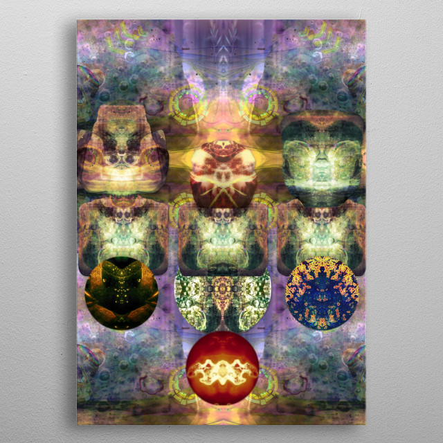 Noble Watchers of Spirit Realms  metal poster