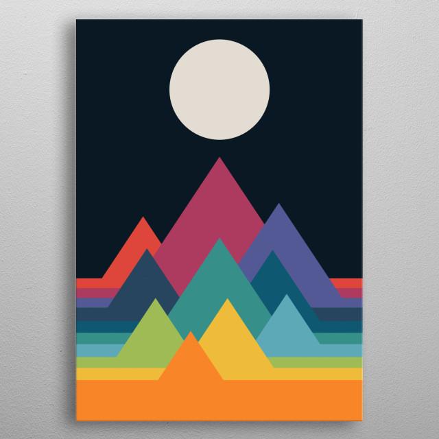 Whimsical Mountains metal poster