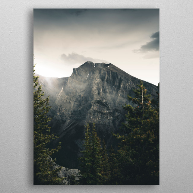 Iridescent Peaks metal poster