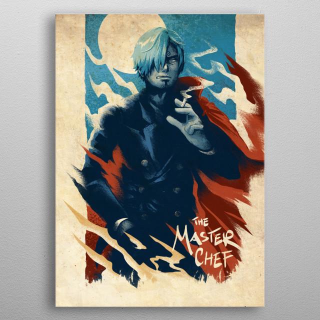 Anime character metal poster