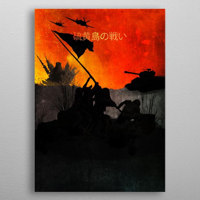 Battle of Iwo Jima / Minimalistic metal poster