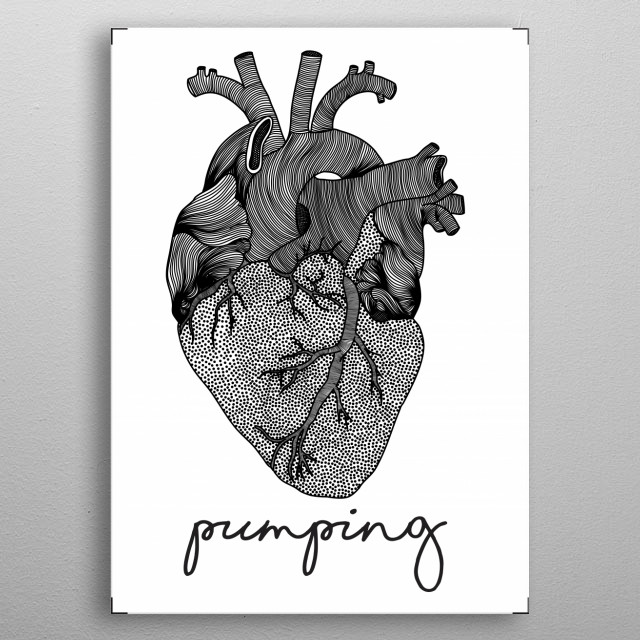 This heart keeps pumping metal poster