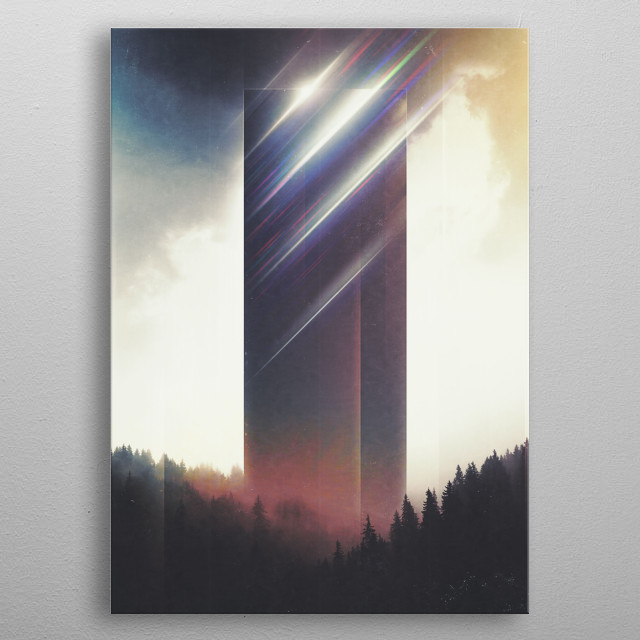 The Temple of Refraction metal poster