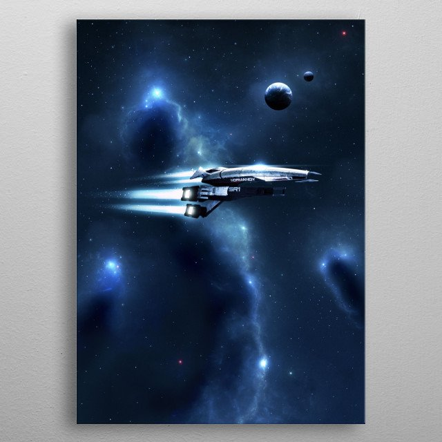 """""""After time adrift among open stars, among tides of light and to shoals of dust, I will return to where I began."""" metal poster"""