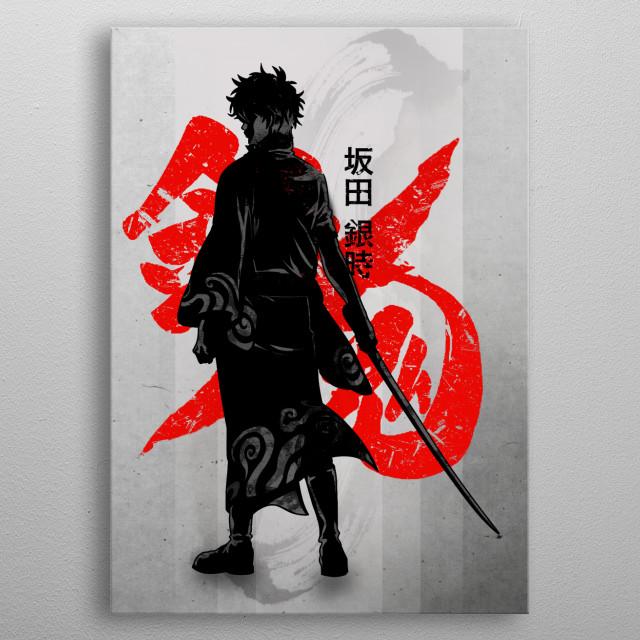 Crimson Gin Tama metal poster