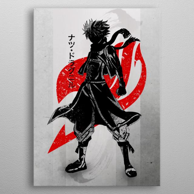 Crimson Dragon Slayer metal poster