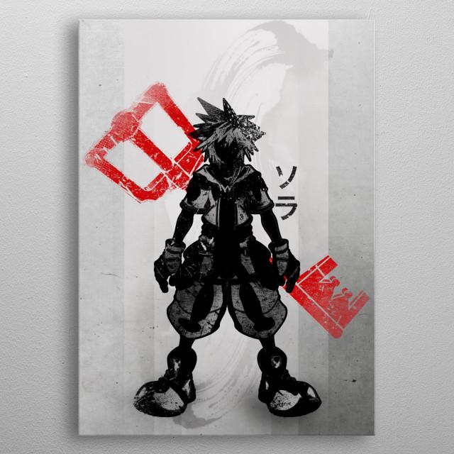Crimson Keyblade metal poster