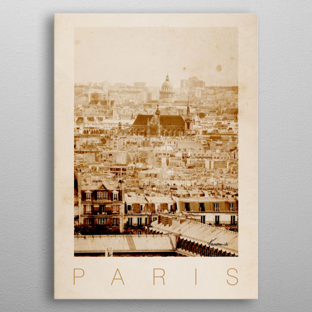 Paris VII metal poster