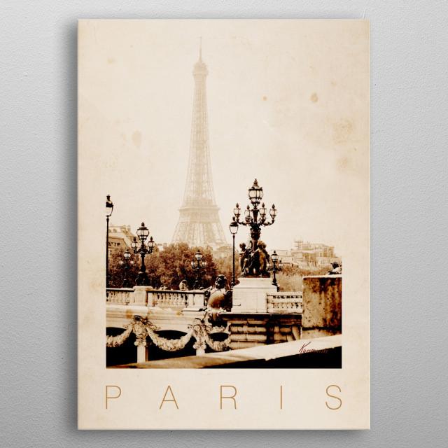Paris VI metal poster