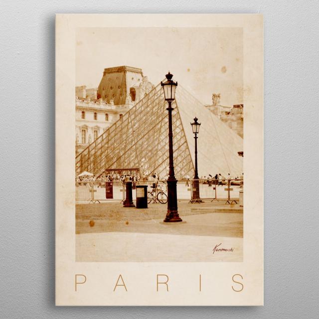 Paris V metal poster