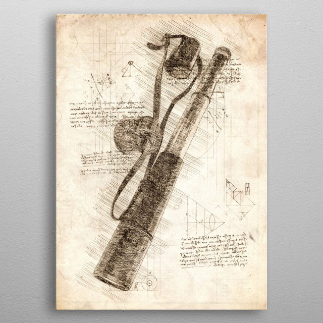 Sketch of an old Spyglass metal poster