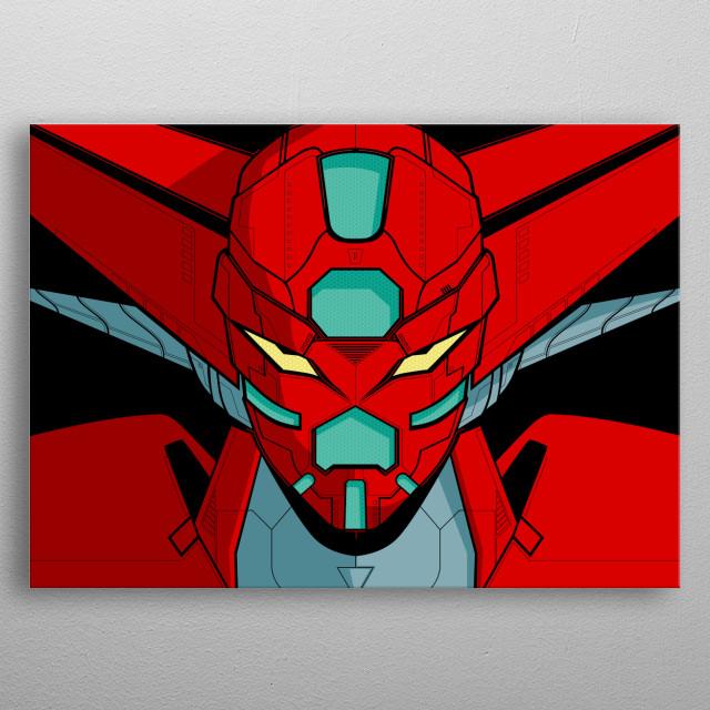 Vector design of Shin Getter metal poster