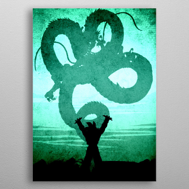 Come on Shenron metal poster