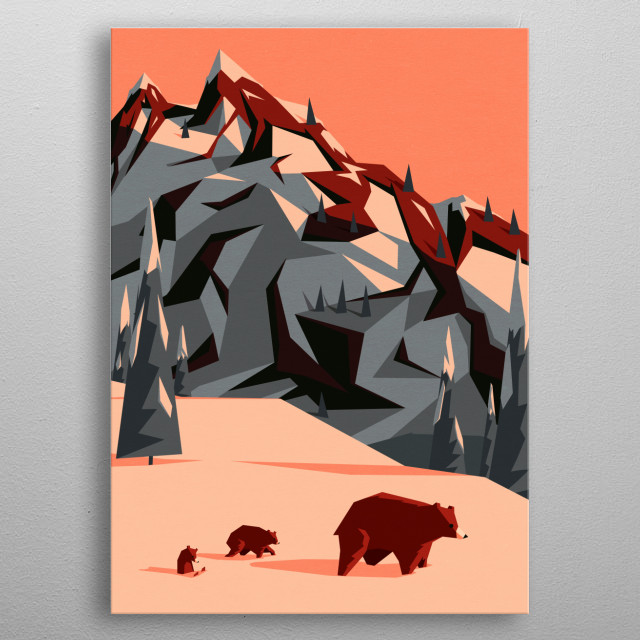 High-quality metal print from amazing Yetiland collection will bring unique style to your space and will show off your personality. metal poster