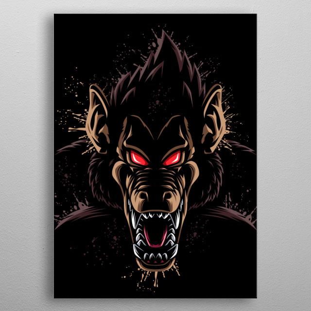 Splatter Monkey metal poster