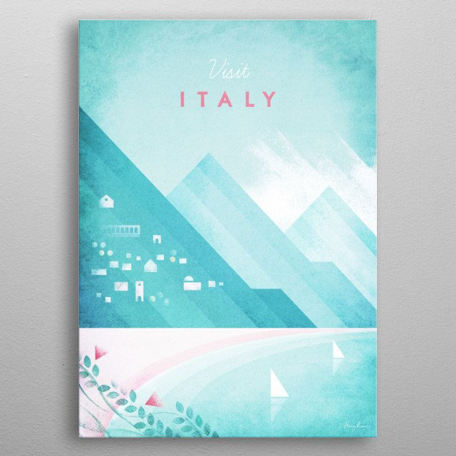 Italy metal poster