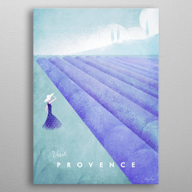 Provence metal poster