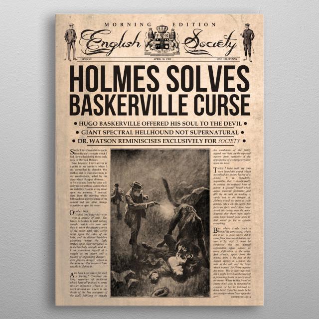 Holmes Solves Baskerville Curse  metal poster