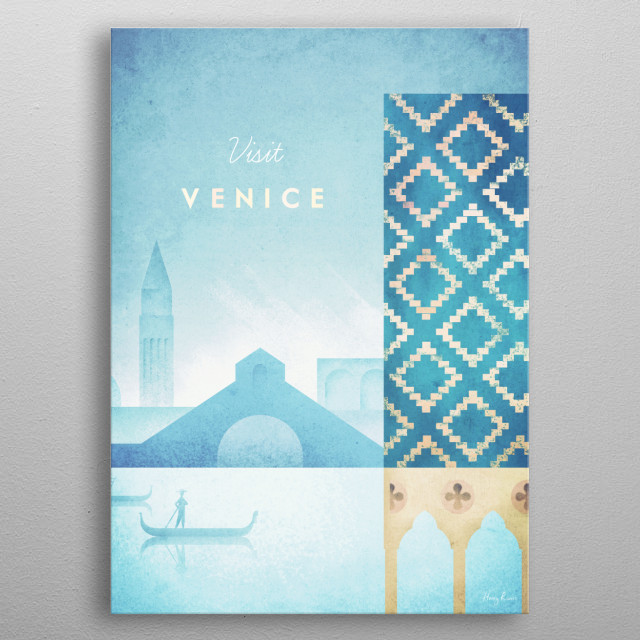 Venice metal poster