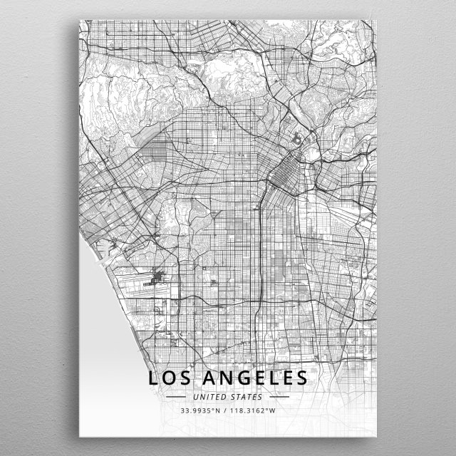 Los Angeles, United States metal poster