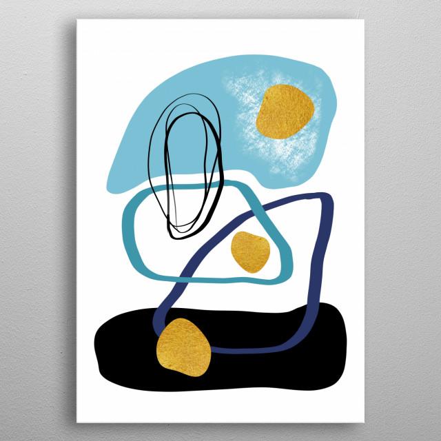 Modern minimal forms 10 metal poster