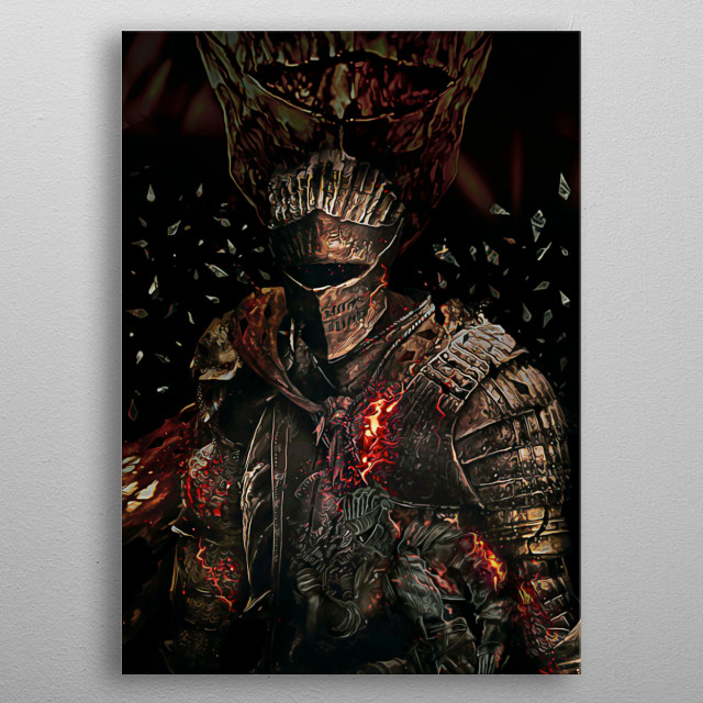 04 | Double Soul of Cinder | Dark Souls metal poster