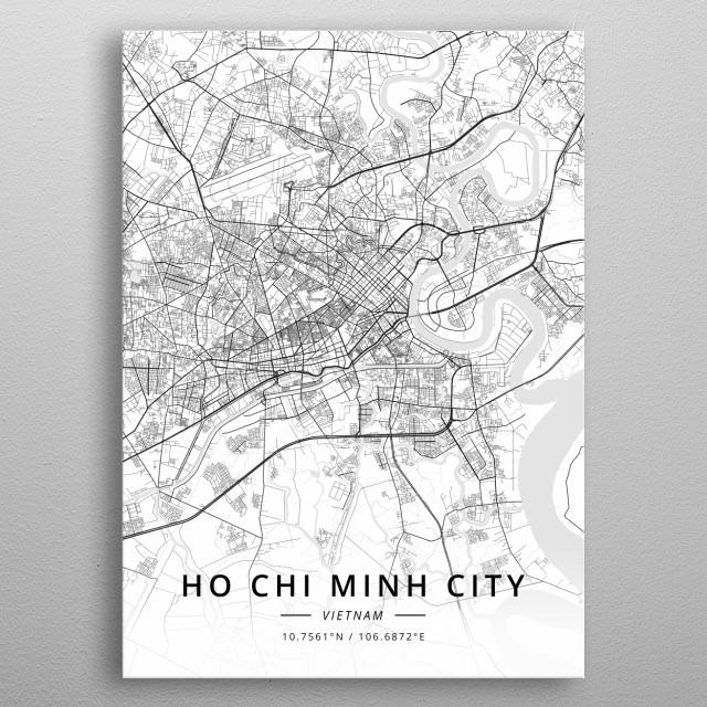 Ho Chi Minh City, Vietnam metal poster