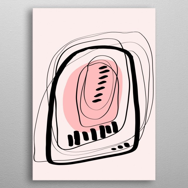 Modern minimal forms 11 metal poster