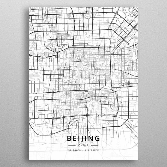 Beijing, China metal poster