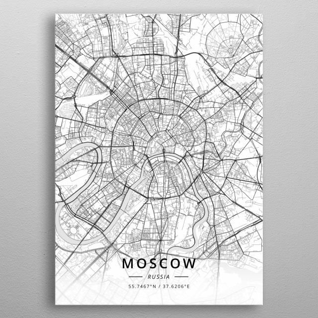 Moscow, Russia metal poster
