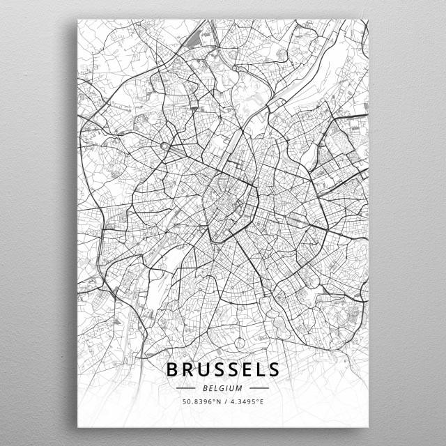 Brussels, Belgium metal poster
