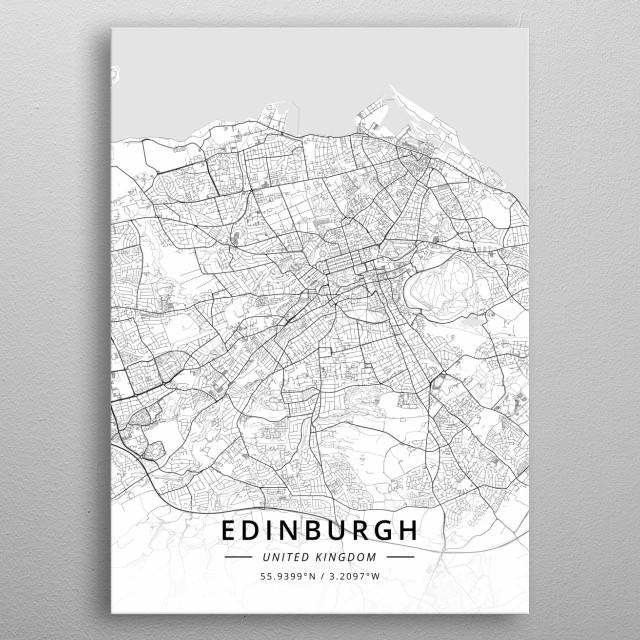 Edinburgh, United Kingdom metal poster
