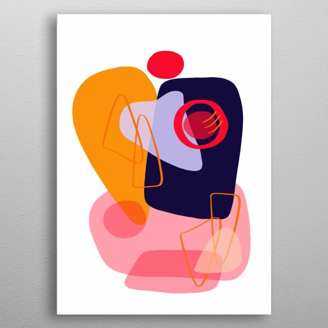 Modern minimal forms 20 metal poster