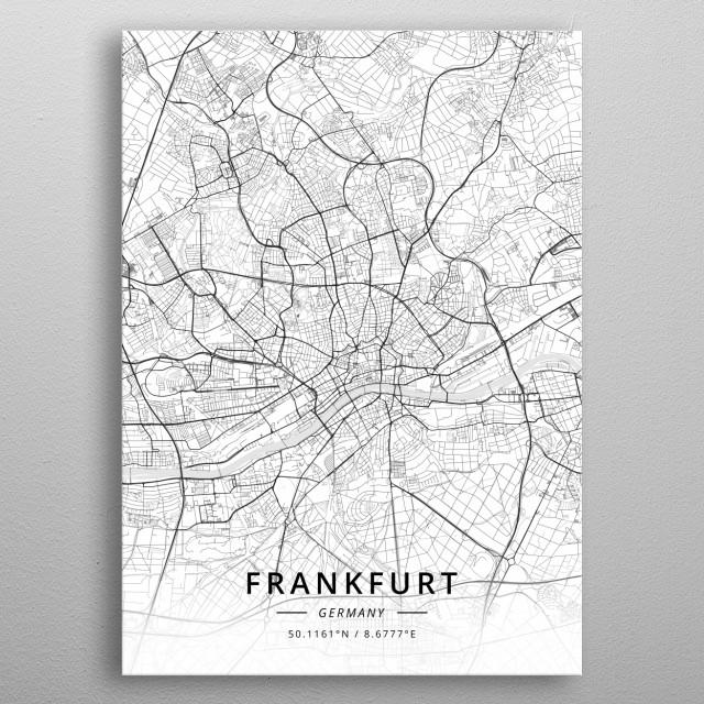 Frankfurt, Germany metal poster