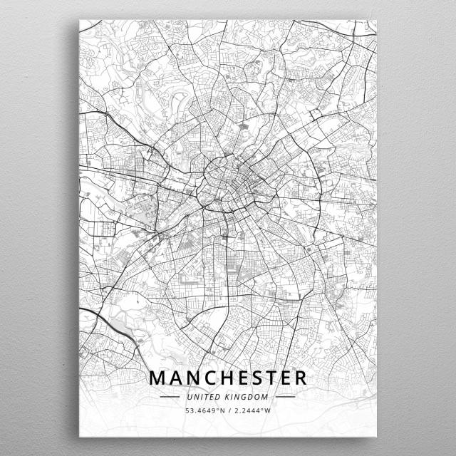 Manchester, United Kingdom metal poster