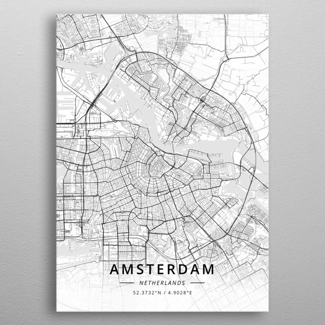 Amsterdam, Netherlands metal poster