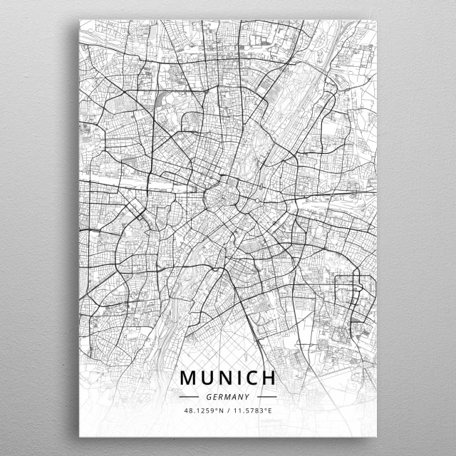 Munich, Germany metal poster